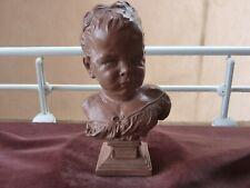 buste le petit boudeur,d'apres carpeaux,moulage musée,H 27cm