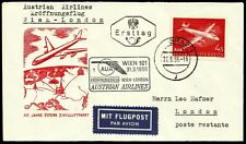 Austria, First Fly Cover, Wien - London, Year 1958, Austrian Airlines