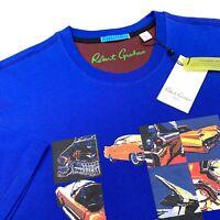 Robert Graham Vintage Classic Cars Graphic T-Shirt Blue Mens Sizes L 2XL $89