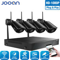 JOOAN 4CH Wireless 1080P NVR HD WiFi Camera Outdoor Home CCTV Security System