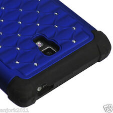 LG Optimus L9 T-Mobile P769 HYBRID SPOT DIAMOND CASE SKIN COVER BLUE BLACK