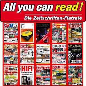 All You Can Read 12 Monats Flatrate Hifi Test+Heimkino+Car&Hifi+Digital Home+LP