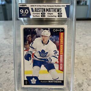 2016-17 O-Pee-Chee #694 Auston Matthews ROOKIE CARD! HGA 9 Maple Leafs