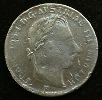 1860 AUSTRIA FRANCIS I 1 FLORIN SILVER COIN - GREAT COIN - GOOD CONDITION