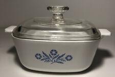 Vintage Corning Ware 1.5 Quart Casserole Cornflower Blue with Lid P-1 1/2-B