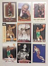 LOT OF 9 DIFFERENT BILL RUSSELL BASKETBALL CARDS NO DUPS HOF BOSTON CELTICS L@@K
