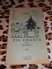 Dix chants pour Noël - COTRA, 1953