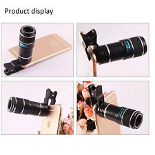 12X Zoom Telephoto Camera Clip On Telescope Lens For Mobile Smart Phone