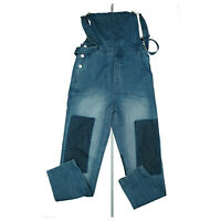 glänzende Lack-Latzhose Latz Hose 22 Blau Größe XL 48 Regenhose Overall Jumpsuit
