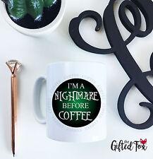 IM un incubo prima di caffè verde in ceramica in Nero Tazza 10oz