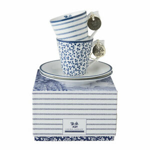 Laura Ashley 2-er Set Espressotassen Floris/Candy Stripe