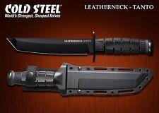 Couteau Tactical Cold Steel Leatherneck Tanto Lame Acier D2 Etui Kydex CS39LSFCT