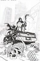 Bloodshot Reborn #11 Original Cover Art by Brian Level VALIANT COMICS 2016