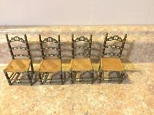 Lot 4 Dollhouse Miniatures Furniture Chairs Raine Take A Seat Folkloric