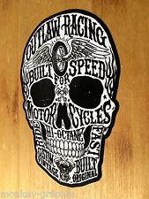 Oldschool Aufkleber Outlaw Skull Schädel Sticker Biker 1% Skull Rockabilly V2 v8
