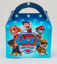Paw Patrol Children's Personalised Party Boxes Favour 1ST CLASS POST