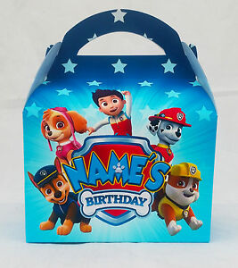 Paw Patrol Children's Personalised Party Boxes Favour