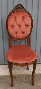 Decorative Small Wooden Chair With Velvet U.Benietung -restaurationsobjekt