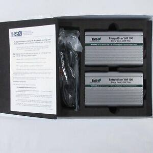 EMF Filter EMS Management Systems ENERGYMIZER EM100R Energy Saver Set 2 Open Box