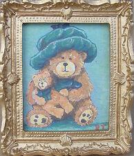 1:12 Scale Framed Picture (Print) Of Doreen Teddy Bear Dolls House Miniature Art