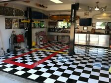 WHITE - Coin-Top Garage Flooring - GarageDeck - MADE IN THE USA