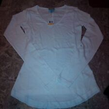 splendid C&C California thermal long sleeve v-neck sweater top S small white