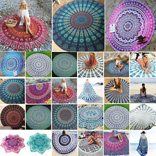 Mandala Round Tapestry Hippie Gypsy Bohemian Throw Yoga Mat Indian Blanket Towel