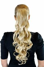 Hair Piece Light Blonde approx. 19 11/16in Strong Wavy Butterfly Clip Extension