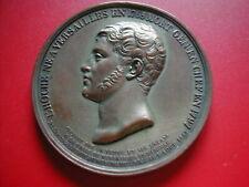 AMN. EPREUVE CUIVRE COMBLé D'ETAIN 1832 HOCHE MORT GENERAL EN 1797 VERSAILLES