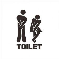 Toilet Door Wall Sticker 99p under £1-Toilet Bathroom Funny Wall Sticker