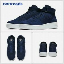 Nike AF1 Air Force 1 Ultra Flyknit Mid Navy UK 6.5, EUR 40.5 ~ 817420 401 ~ NUOVO CON SCATOLA