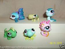 Littlest Pet Shop Lot of 6 Seahorse #1011 Seal #2743 Tropical Fish #2139 More