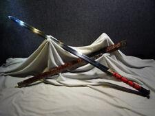 "42 inch Chinese swords ""han sword"" carbon steel KATANA sharp blade can cut tree"