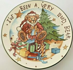 """Bearware Pottery Works Boyd's Collection """"I've Been A Very Good Bear"""" Plate"""