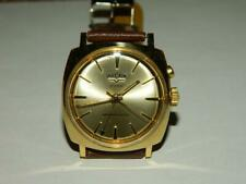 VINTAGE VULCAIN CRICKET ALARM MEN'S GOLD TONE WRISTWATCH A2317A WORKING #J