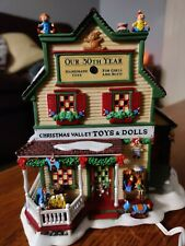 Dept 56 New England Village Christmas Valley Toys & Dolls Display Anywhere
