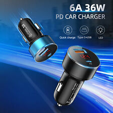 Quick Charge 4.0 3.0 Car Charger Socket Dual USB Port Volt Display Fast Charging