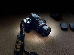 Nikon D60 SLR-Digitalkamera mit Objektiv Nikkor AF-P 18-55 DX