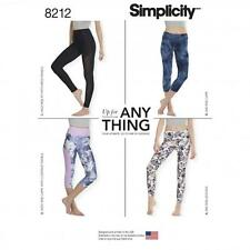 Simplicity SEWING PATTERN 8212 To Make Misses Leggings In 2 Lengths XXS-XXL