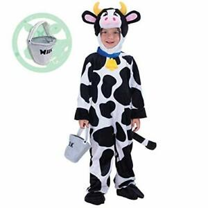 Lovely Cow Costume Deluxe Set for Kids Halloween Farm Dress Up Party, Role