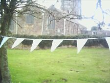 20 foot WHITE COTTON FABRIC BUNTING FLAGS WEDDINGS  over 6 mts