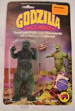 "Godzilla Action Figure GLJ 1978 MOC King Of Monsters Toho 5"" Bendy Movie"