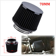 Universal Motorcycle Scooter Accessories 70mm Black Air Filter Cleaner+Adapter