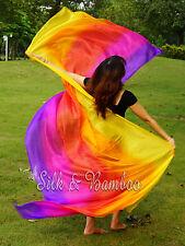 various 5,6 color light weight 5mm silk, belly dance silk veil,hand rolled edges