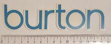 *** Burton - Snowboard Sticker - Schriftzug II ***