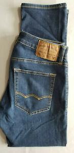 AMERICAN EAGLE Men Extreme Flex Slim Straight Cotton Denim Jean - 28x28 Drk Blue