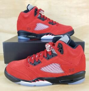 Nike Air Jordan 5 Retro Raging Bull 440888-600 GS Size 5y Brand New