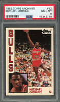 Michael Jordan Chicago Bulls 1992 Topps Archives Basketball Card #52 PSA 8