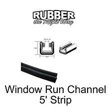 """Dodge Truck / Jeep Window Run Channel - 17/32"""" Tall X 9/16"""" Wide X 5' Long"""