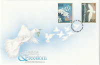 IOM 28 APRIL 1995 PEACE & FREEDOM UNADDRESSED FIRST DAY COVER DOUGLAS SHS